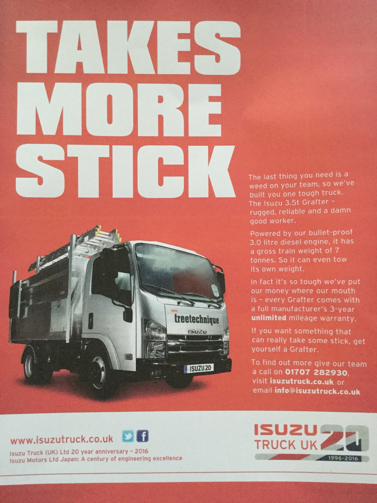 Izuzu truck advert Tree Technique